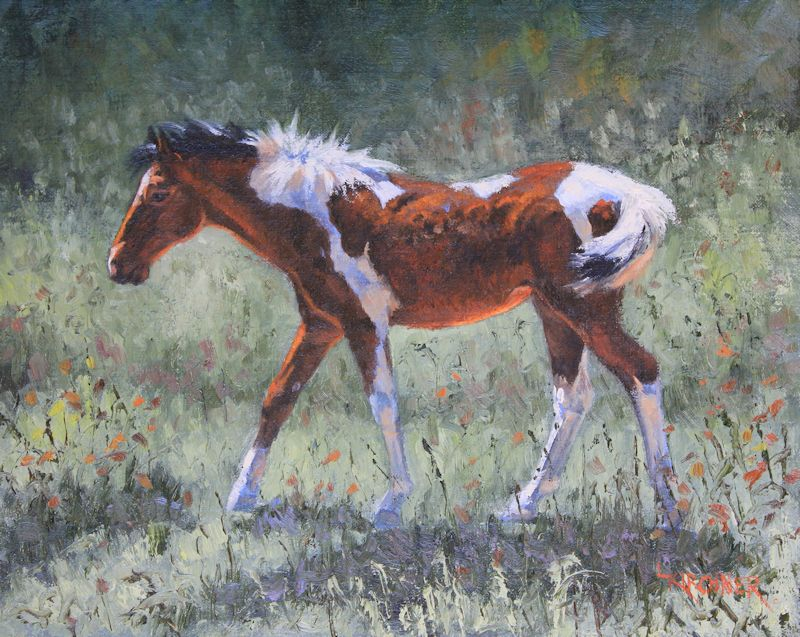 leslie kirchner, leslie kirchner art, leslie kirchner artist, western art, western artist, wildlife art, wildlife artist,nature art, nature artist, horse art, horse, foal, filly, horse painting, foal painting, filly painting