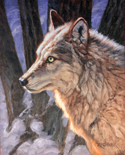 leslie kirchner, leslie kirchner artist, leslie kirchner art, western art, wildlife art, nature art, western artist, wildlife artist, nature artist, grey wolf, gray wolf, white wolf, wild canid canis lupus,wolf in snow, wolf art, wolf painting